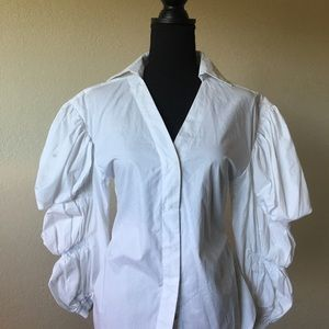 Other - Luxe couture white tufted shirt Neiman Marcus